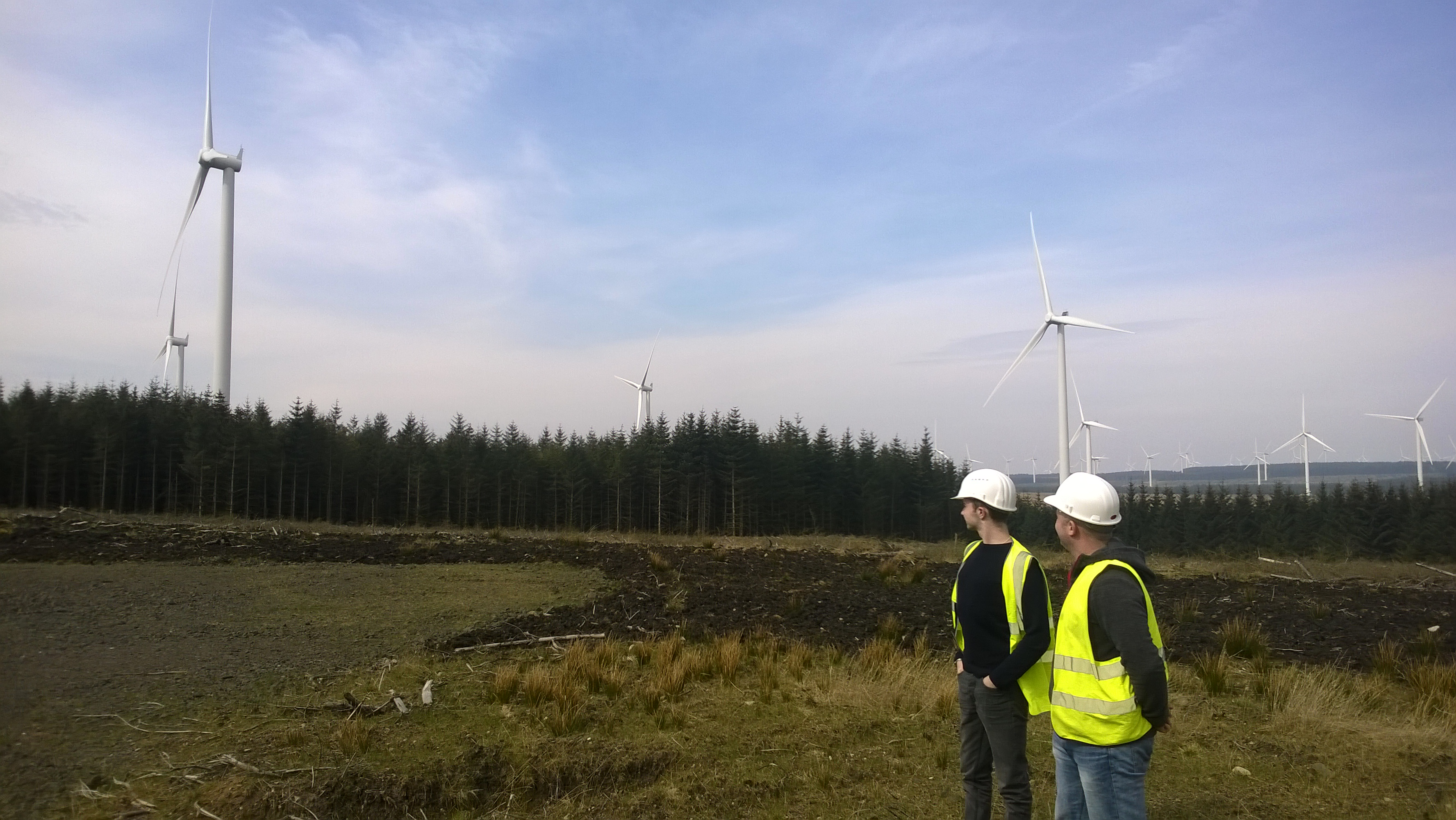 Ayrshire College Students, Andrew & Rhys visit Calder Water Community Windfarm in South Lanarkshire