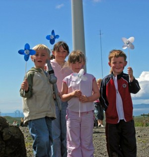 Children and Windmills